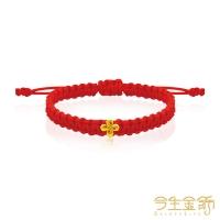 (今生金飾)Life Gold Jewelry Knotted Gold Moon Beaded Bracelet