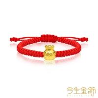 (今生金飾)This life gold jewelry purse beaded gold moon bracelet