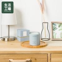 【Life Workshop】Leather Superb Simple Blue Fragrance Wax 210g