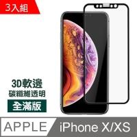 iPhone X / XS Black Soft Edge Carbon Fiber Scratch Protective Sticker-Value 3