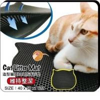 """(寵喵樂)?喵? """"EVA cute cat face cat sand mat"""" honeycomb improved hole"""