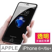 iPhone 6/6S Plus 透明高清半屏 手機鋼化膜保護貼