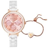 【加碼送愛心手鍊】RELAX TIME 愛戀系列 花辮陶瓷腕錶RT-91-3