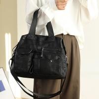 My Destiny Korean Wave Fashion-Large-capacity Printed Tote Bag Shopping Bag 65066 (Black)