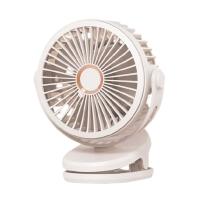 USB silent clip charging mini fan pearl white 10000mAh