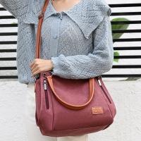 My Destiny Korean Wave Fashion-Simple Side Shoulder Bag Handbag Canvas Bag 65015 (Purple Coffee)