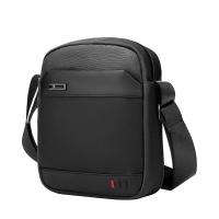 (arctic hunter)【ARCTIC HUNTER】Simple splicing waterproof shoulder bag/cross-body bag/side bag/flat bag (black)