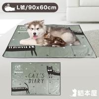 (貓本屋)Cat House Ice Crystal Soft Gel Pet Cooling Mat (L Size/90x60cm)-Gray Cat