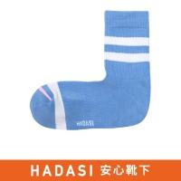 [HADASI] Striped Cushion Deodorant Socks (Light Blue) 22-24CM