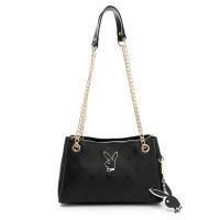 (playboy)PLAYBOY-Chain Strap Shoulder Bag Brilliant Series-Black