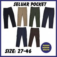 SELUAR POCKET BIRU TUA 4655/ CARGO PANTS/ SELUAR KERJA/ SELUAR 6 POCKETS/ SELUAR PANJANG LELAKI/ SELUAR POKET