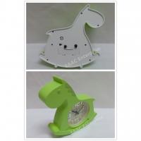 Cute Cartoon Green Horse Alarm Clock for Kids
