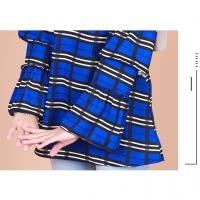READY STOCK] RISHA BLOUSE M-XL BLOUSE WANITA IRONLESS / RISHA CHECKERED FLARED LAYER CUFF BLOUSE