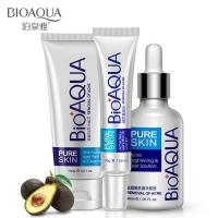 BIOAQUA 3Pcs PureSkin Anti Acne Set Skin Care Acne Treatment Value Set 3 in 1