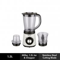 Mistral 500W Blender (1.5L) with MIller & Chopper- MBL9000MJC