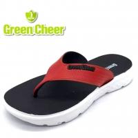 Ready Stock Original Green Cheer Men Flat Slipper with Full Rubber
