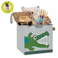 Germany Lassig toy storage box - small crocodile