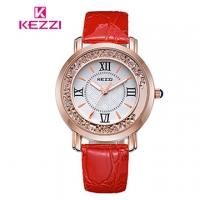 (KEZZI)[17mall] Ke Zi KEZZI Roman retro creative quicksand diamond belt quartz watch - red