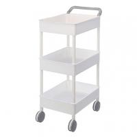 KEYWAY large wheel cart three-layer AQ603-4 / white / 518x345x898mm