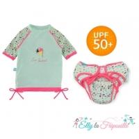 (Elly la Fripouille)Elly la Fripouille French sunscreen children's swimwear _ ice cream split children's swimwear