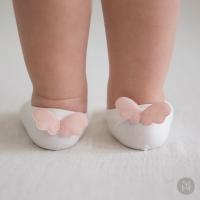 (Happy Prince)Happy Prince Korean Angel Angel Wings Cool Infant Children's Socks - White