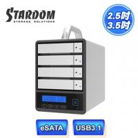 (STARDOM)STARDOM SR4-SB31 + USB3.1 / eSATA 4bay 3.5-inch / 2.5-inch disk array hard drive external box