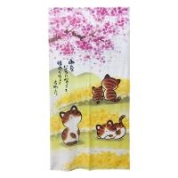 (櫻花貓)Sakura cat long curtain 175x88cm