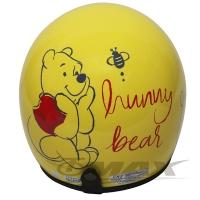 (小熊維尼)Winnie the Pooh half-cover locomotive helmet-yellow + anti-uv short lens + 6 into the helmet inner liner