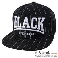 (A-Surpriz )A-Surpriz BLACK letter suture baseball cap (black)