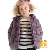 (LOVEDO)[LOVEDO-Ai Weiduo Children's Wear] Elegant Sweetheart Hooded Warm Cotton Jacket (Purple)