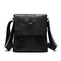 MT4010BK leather crocodile side backpack black