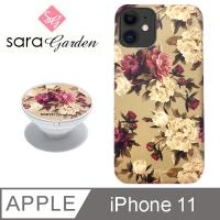 (Sara Garden)[Sara Garden] iPhone11 mobile phone case i11 6.1 inch airbag air cushion mobile phone holder rose flower