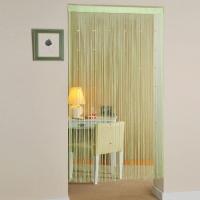 (Cotton Field) Cotton field [crystal bright] beaded molding curtain - apple green (90x180cm)
