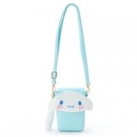 "Big ear dog shape leather flip buckle crossbody bag ""blue. Big face"" mobile phone bag. Carry bag"