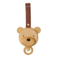 (奇哥)【Chige】Wooden bear head music ring