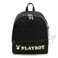 (PLAYBOY)PLAYBOY- Small Backpack Golden Bunny Series - Black