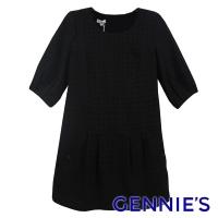 (gennies)Gennies Long Check Top (Black G3453)