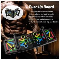 MALAYSIA: 6 PACK BUILDER/ ALAT EXERCISE / GYM DI RUMAH / Push Up board Push Up bar Rack Board 14 in 1 Board