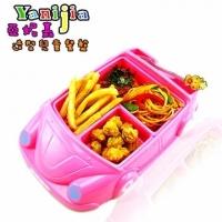 [TAITRA] 【Yanijia Children's Dinner Plate】Sweet Pink Sports Car Dinner Plate