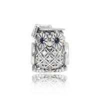 (pandora)Pandora Pandora Bachelor Hat Owl Sterling Silver Pendant Beaded