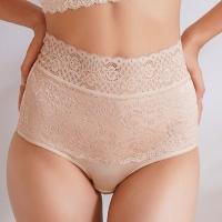 (chlansilk)Quelan silk stretch-covered silk high-waist plastic pants-B802(skin)