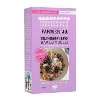 (Farmer Jo)Farmer Jo baked muesli with probiotics (fig, cranberry) 400g