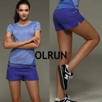 (OLRUN)[OLRUN] Sports Fitness Yoga Running Zipper Pocket Loose Casual Quick-drying Sports Pants Temperament Gray