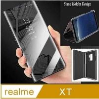 OPPO Realme XT Plating Mirror Flip Vertical Stand Phone Case Protective Case Protective Case