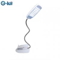 逸奇e-Kit 28顆亮白LED燈/輕巧百變創意蛇管檯燈夾(白)UL-8002_W