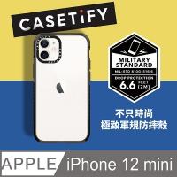 Casetify iPhone 12 mini 耐衝擊保護殼-透黑