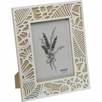 VERSA Herbal Carved Wood Frame (White 5x7 inch)