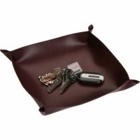 (Versa)Versa Leather accessories storage tray (Wine Red)