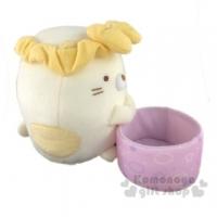 小禮堂 角落生物 貓咪 杯子絨毛玩偶娃娃《S.黃紫》置物盒.擺飾.玩具