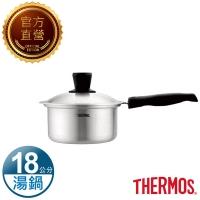 【THERMOS 膳魔師】晶鑽達人原味鍋單柄湯鍋18cm(K23N-S18)